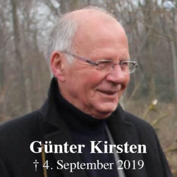Zum Tod von Günter Kirsten